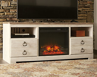 "Willowton 64"" TV Stand with Electric Fireplace, , rollover"