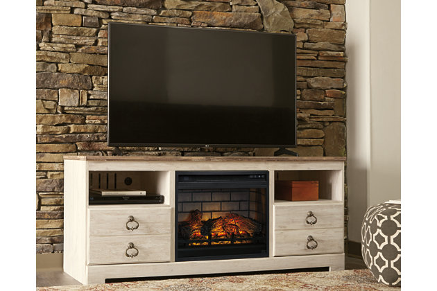 "Willowton 64"" TV Stand with Electric Fireplace, , large"