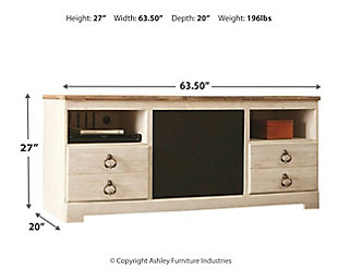 """Willowton 64"""" TV Stand with Wirelss Pairing Speaker, , large"""