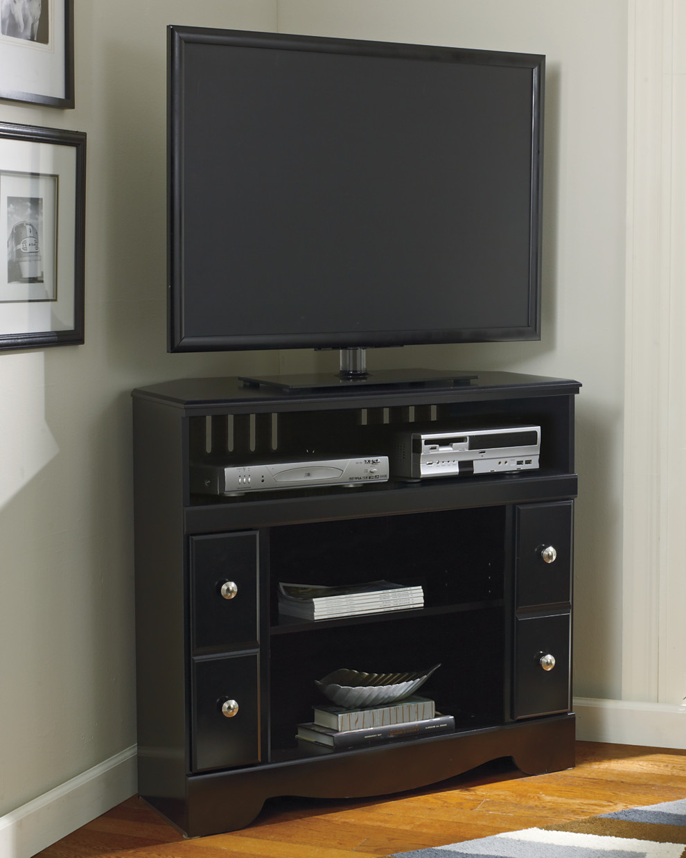 shay corner tv stand fireplace opt corporate website of ashley