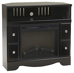 Shay Corner TV stand with Fireplace, , large