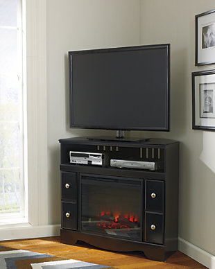 "Shay 38"" TV Stand with Electric Fireplace, , rollover"