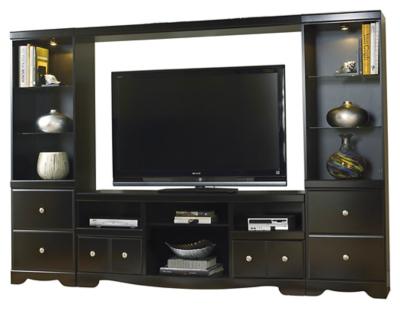 Shay 4Piece Entertainment Wall Unit Ashley Furniture HomeStore