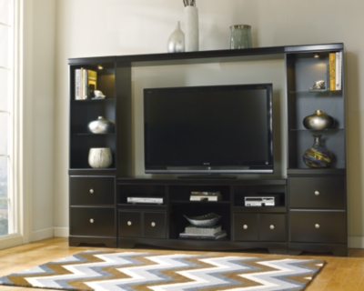Shay 4Piece Entertainment Wall Unit Ashley Furniture HomeStore