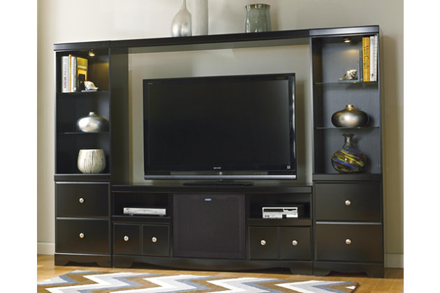 Shay 4 Piece Entertainment Center With Wireless Pairing