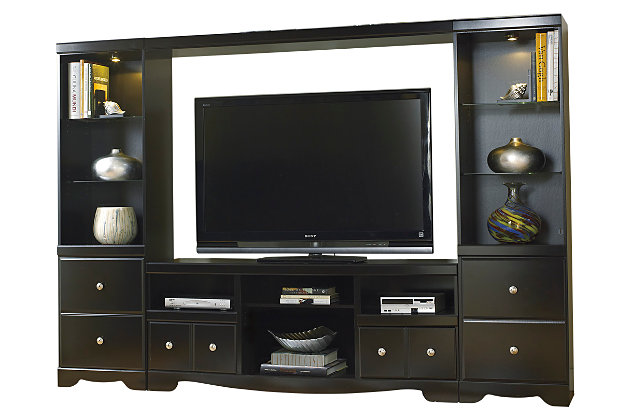 Shay 4 Piece Entertainment Center Ashley Furniture Homestore