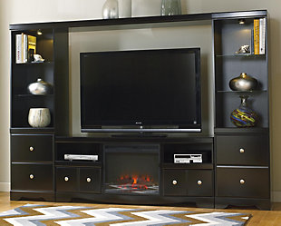 Shay 4-Piece Entertainment Center with Fireplace, , large