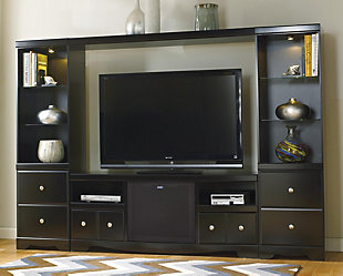 Genial ... Large Shay 4 Piece Entertainment Center With Wireless Pairing Speaker,  , Rollover
