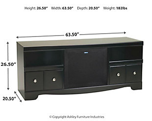 "Shay 64"" TV Stand with Wireless Pairing Speaker, , large"