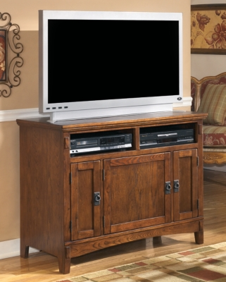 "Cross Island 42"" TV Stand, Medium Brown"