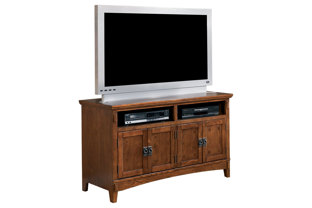 ashley furniture cross island 50 tv stand medium brown w319 28 new ebay. Black Bedroom Furniture Sets. Home Design Ideas