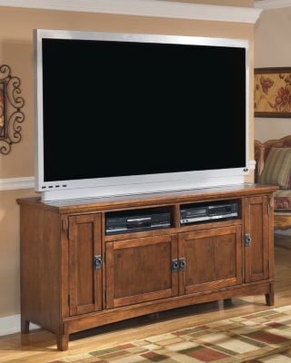 "Ashley Cross Island 60"" TV Stand, Medium Brown"