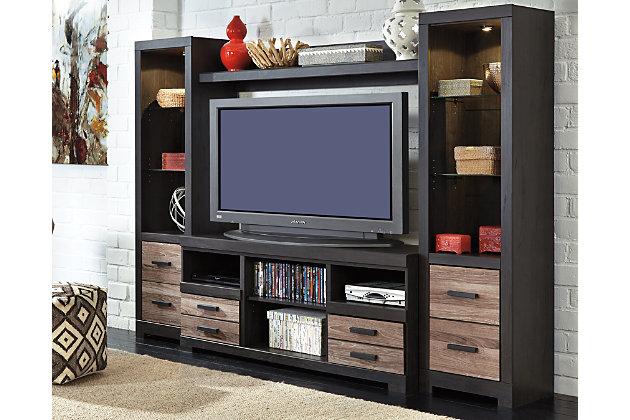 Harlinton 4 Piece Entertainment Center Ashley Furniture Homestore
