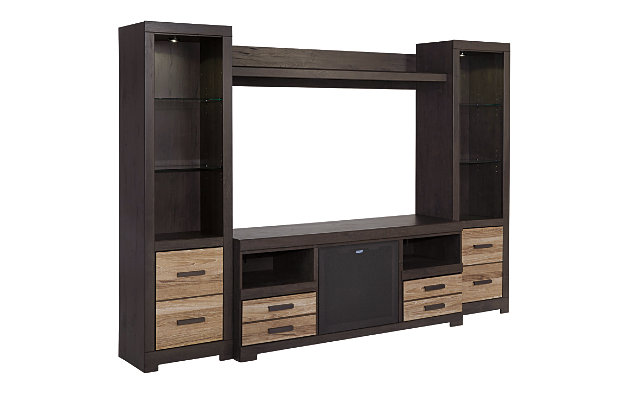 Harlinton 5-Piece Entertainment Center with Wireless Pairing, , large
