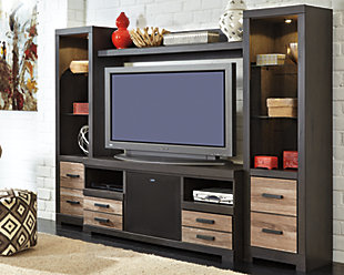 Harlinton 4-Piece Entertainment Center with Wireless Pairing Speaker, , rollover