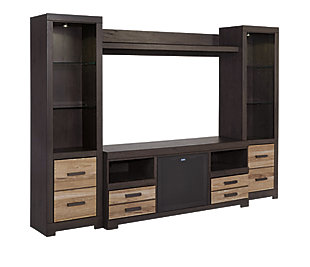 Harlinton 4-Piece Entertainment Center with Wireless Pairing Speaker, , large