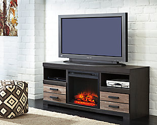 "Harlinton 63"" TV Stand with Fireplace, , rollover"