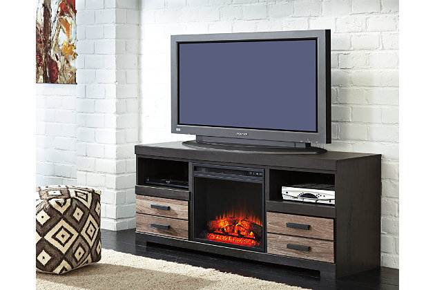 "Harlinton 63"" TV Stand with Fireplace, , large"