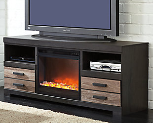 "Harlinton 63"" TV Stand with Electric Fireplace, , rollover"
