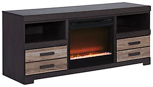 "Harlinton 63"" TV Stand with Electric Fireplace, , large"