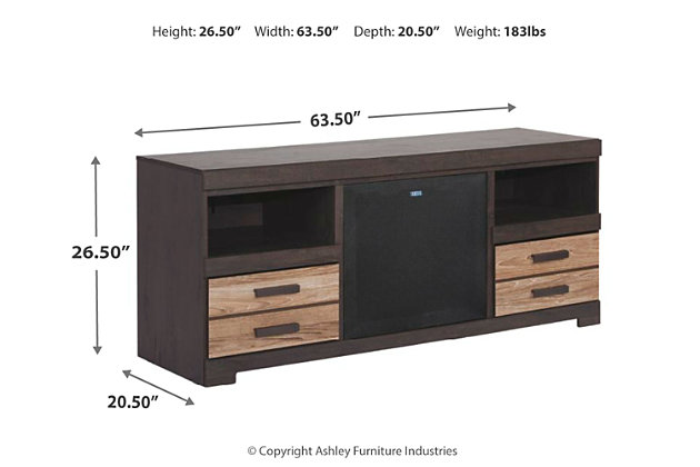 "Harlinton 63"" TV Stand with Wireless Pairing Speaker, , large"