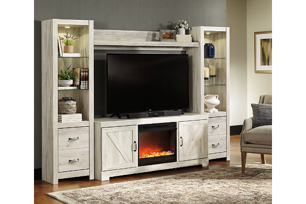 Bellaby 4-Piece Entertainment Center with Fireplace ...