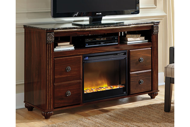 """Gabriela 59"""" TV Stand with Electric Fireplace, , large"""