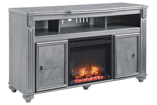 "Zolena Zolena 59"" TV Stand with Electric Fireplace, , large"