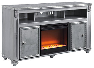 Zolena TV Stand with Fireplace, , large