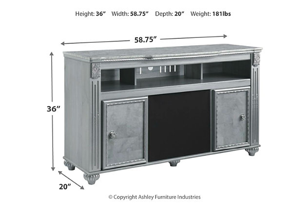"Zolena 63"" TV Stand with Wireless Pairing Speaker, , large"