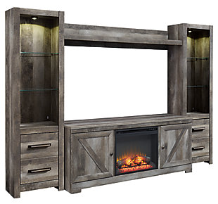 Wynnlow 4-Piece Entertainment Center with Fireplace, , large