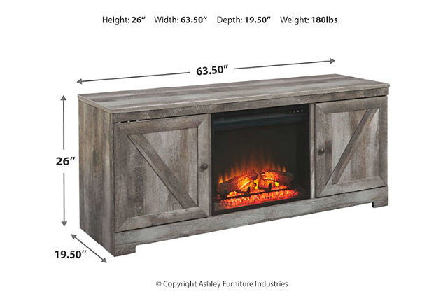 """Wynnlow 63"""" TV Stand with Fireplace, , large"""