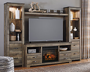 Trinell 4-Piece Entertainment Center with Electric Fireplace, , large