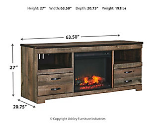 """Trinell 63"""" TV Stand with Electric Fireplace 