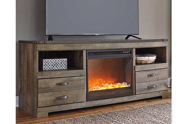 Trinell 63 Tv Stand With Electric Fireplace Ashley Furniture