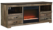 """Trinell 63"""" TV Stand with Electric Fireplace, , large"""