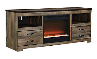 Trinell TV Stand with Fireplace, , large