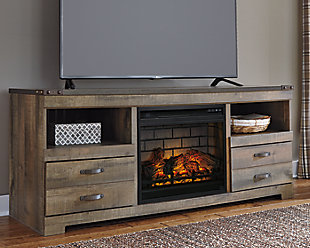 "Trinell 63"" TV Stand with Electric Fireplace, , rollover"
