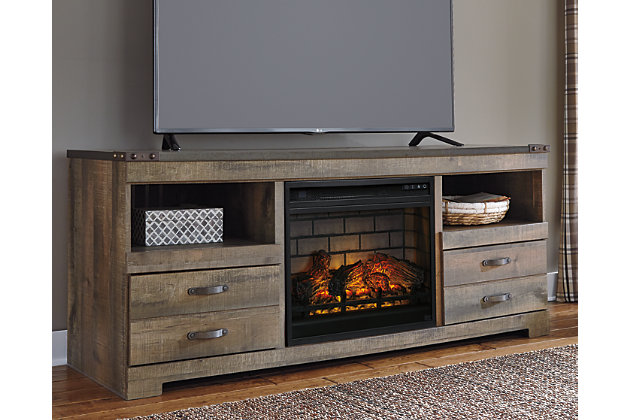 "Trinell 63"" TV Stand with Electric Fireplace, , large"