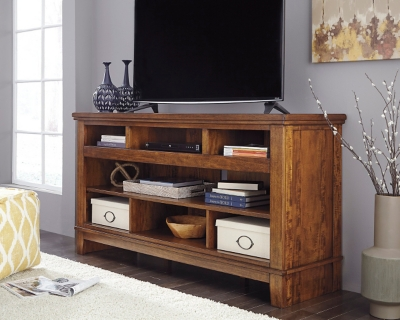 "Ashley Ralene 65"" TV Stand, Medium Brown"