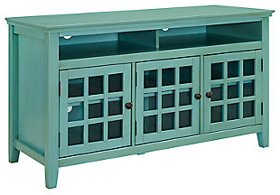 Largo Media Cabinet, Turquoise, large