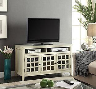 Largo Media Cabinet, White, large