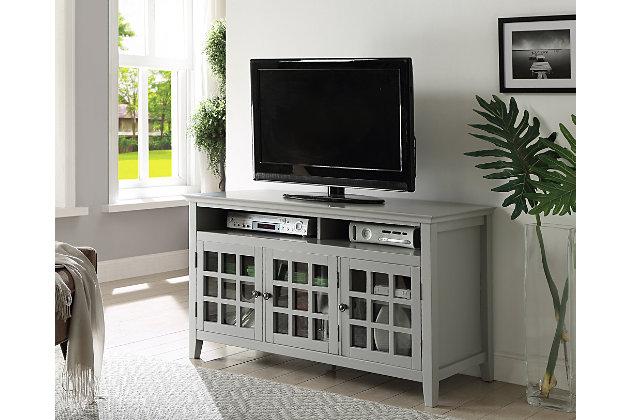 Largo Media Cabinet Gray Large