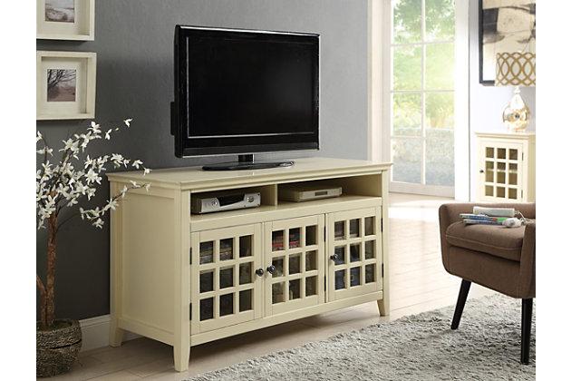 Largo Media Cabinet, Yellow, large