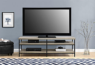 "Gray Oak Finish Ray Ridge TV Stand for TVs up to 60"", , rollover"