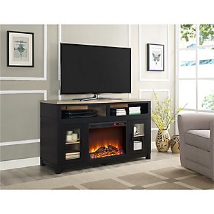 "Fireplace Kadin Electric TV Stand for TVs up to 60"", Black, rollover"