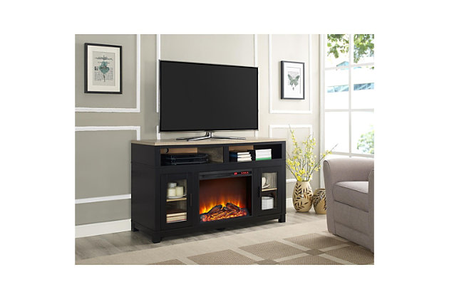 "Fireplace Kadin Electric TV Stand for TVs up to 60"", Black, large"