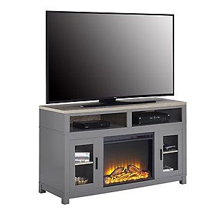 """Fireplace Kadin Electric TV Stand for TVs up to 60"""", Gray, large"""