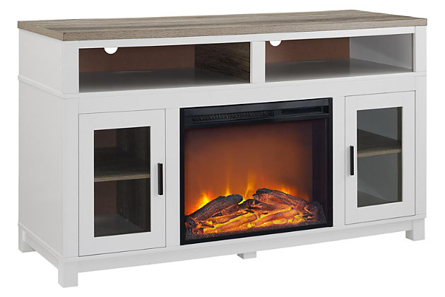 Kadin 54 Tv Stand With Electric, Ashley Furniture Electric Fireplace