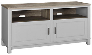 """Media Kadin TV Stand for TVs up to 60"""", Gray, large"""